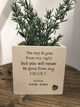 Personalised Flower / Plant Pot In Memory Of Loved One NANA GRAN NAN Or ANY NAME - 254324623665
